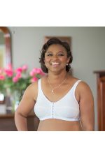 ABC 123 Front & Back Close Easy Fit Bra White